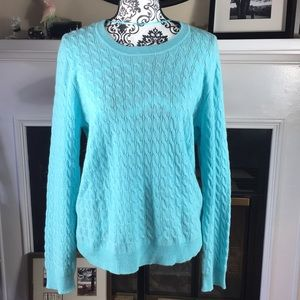 Charter Club Luxury Cashmere Turquoise size Large